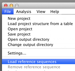 Loading reference sequences